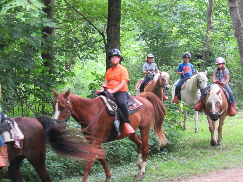 H Trail Ride around the corner